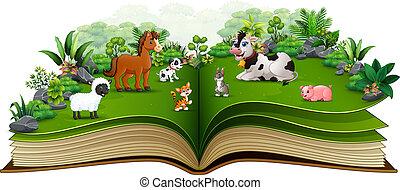 농장, 공원, 책, 동물, 열려라, 만화