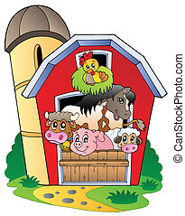 농장 동물, 여러 가지이다, 헛간