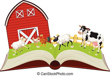 농장, 책, 열려라, 동물