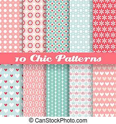 다른, seamless, 패턴, 벡터, (tiling)., 독특한 스타일