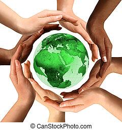 다민족이다, 지구 지구, 약, 손