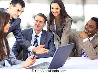 다의, 사업, 소수 민족의 사람, 행정관, 토론, 일, 특수한 모임
