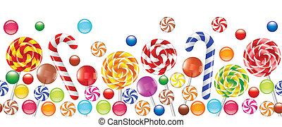 다채로운, 사탕, 과일, 대성공, 사탕 과자