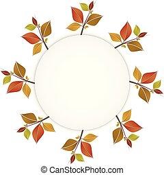 다채로운, 잎, 또는, 가을, 기치, 구조