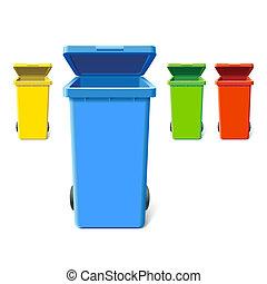 다채로운, 큰 상자, 재활용