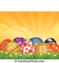 달걀, 배경, 부활절