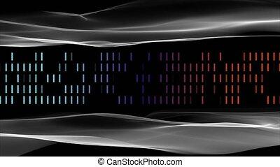 대범한, 4096x2304, 기계의 운전, 물건, 스트라이프, 파도, 생기, 비디오, 미래다, 고리, 4k