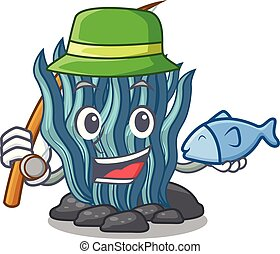 대양, 어업, 바다, 억압되어, 만화, 해초