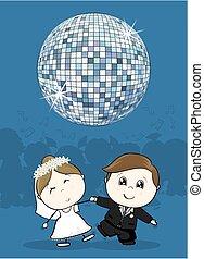 댄스, 결혼식, 처음