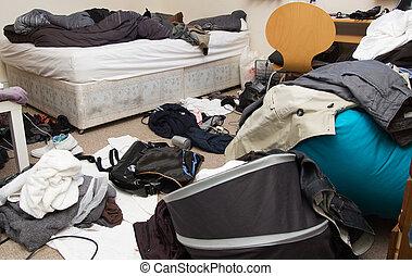 더러운 방, 침실