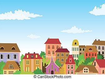 도시의, 만화, 장면