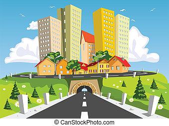 도시, 떼어내다, 다채로운