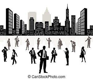 도시 비즈니스, 배경, 팀