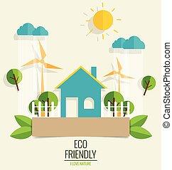 도시, 생태학, 개념, 녹색