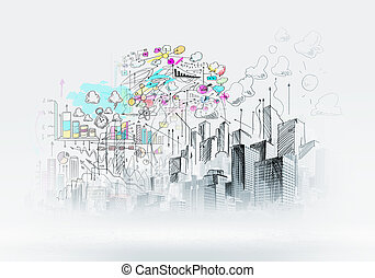 도시 장면