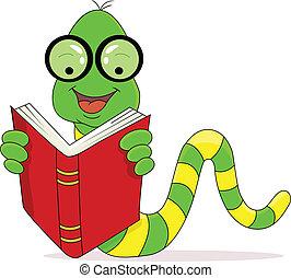 독서, 행복하다, 책, 벌레