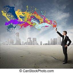 독창성, 사업
