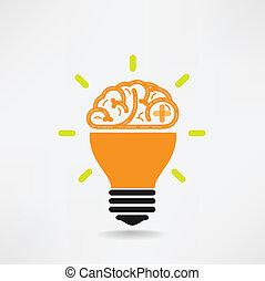 독창성, 사업, 지식, 뇌, 창조, 아이콘, 표시, 상징, 교육