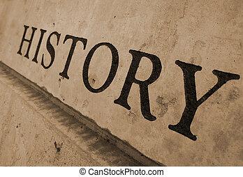 돌, 새기는, 역사