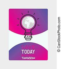동기 부여, 생태학, poster., 지구, 전기, nature., 환경, 배경., 본뜨는 공구, 모아두다, 지도, 지구, eco, 자극이다, 세계, 기치, 일, 유기체의, illustration., 빛, 행성, 벡터