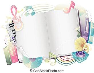 디자인, 주, 책, 음악, 열려라