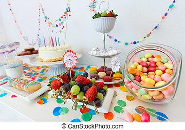 디저트, 테이블, 파티