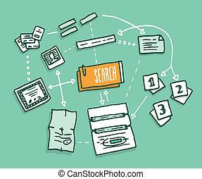 디지털 정보, 자료, algorithm, 모임, 검색
