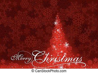 떼어내다, 나무, 크리스마스, 빨강