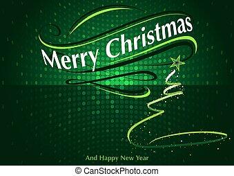떼어내다, 녹색, 크리스마스, 인사