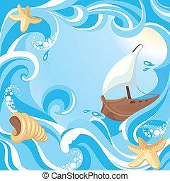 떼어내다, 바다, 배경