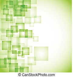 떼어내다, 배경, 녹색, 사각형