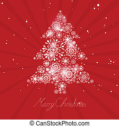 떼어내다, 벡터, 나무, 크리스마스
