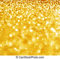 떼어내다, 빛나는, 금, 휴일, 크리스마스, texture., bokeh, 배경.