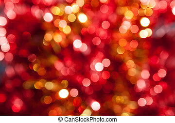 떼어내다, 황색, defocused, 배경, 크리스마스, 빨강