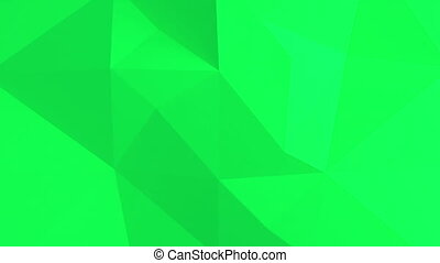 떼어내다, pattern., polygonal, 녹색의 배경, 3차원