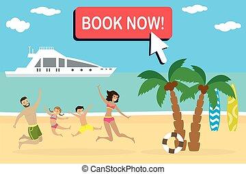 뛰는 것, 바닷가, 열대적인, 행복하다, 조경술을 써서 녹화하다, 가족, 만화