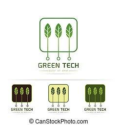 로고, 기술, 녹색