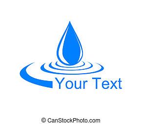 로고, 내리다, water.