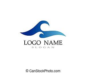 로고, 물, 바닷가, 파도