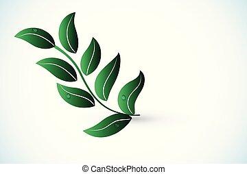 로고, 벡터, 건강, 자연, 잎