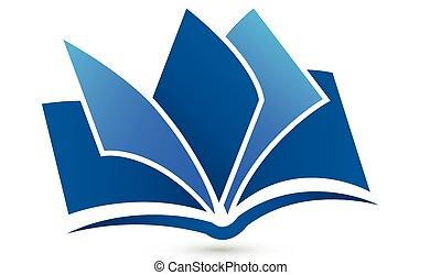 로고, 상징, 벡터, 책