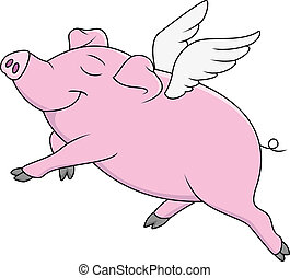 만화, 돼지, 나는 듯이 빠른