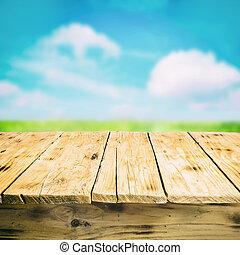 멍청한, 시골, 빈 광주리, 옥외, 테이블