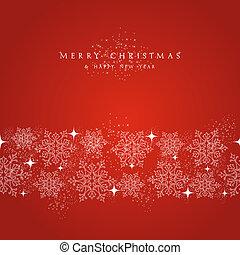 명랑한, 성분, 눈송이, border., 훈장, 크리스마스