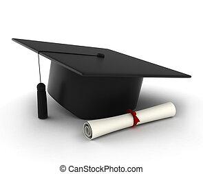 모자, 졸업 증명서, 눈금