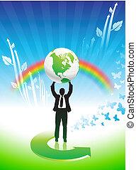무지개, 사업, 환경 보존, 배경, 남자