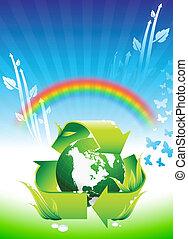 무지개, 지구, 보존, 배경, 환경