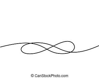 무한, 그림, 상징., 연속적이다, 선, 아이콘