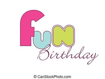 문자로 쓰는, 재미, 자체, 생일