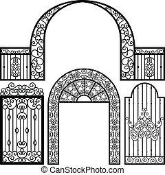 문, 입구, 문, 고매하다, 포도 수확